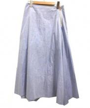 MADISONBLUE(マディソンブルー)の古着「オックスフォードミモレスカート」|ブルー