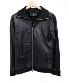 Q NINE(9)(ナイン)の古着「カウレザーシングルライダースジャケット」 ブラック
