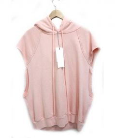 UNUSED(アンユーズド)の古着「ノースリーブパーカー」|ピンク