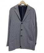SARTORIO(サルトリオ)の古着「ストライプテーラードジャケット」|ホワイト×ブラック