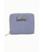 FURLA(フルラ)の古着「ラウンドファスナーリボン財布」|ブルー