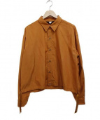 UNUSED(アンユーズド)の古着「オープンバッグシャツ」|オレンジ