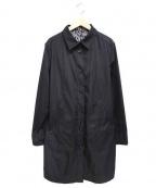SONIA RYKIEL(ソニア リキエル)の古着「ステンカラーコート」|ブラック