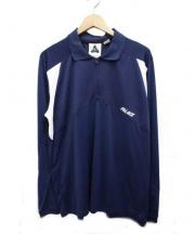 adidas originals × PALACE(アディダス オリジナル × パラスパレス)の古着「ロングスリーブポロシャツ」|ネイビー