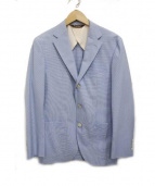Paul Stuart(ポール スチュアート)の古着「千鳥格子3Bジャケット」|ブルー