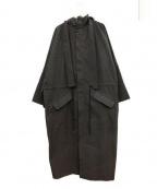 CRAIG GREEN(クレイグ グリーン)の古着「オーバーサイズフーデットコート」|ブラック