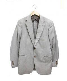 MACKINTOSH(マッキントッシュ)の古着「ストライプ2Bセットアップスーツ」|ベージュストライプ