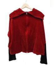 NEON SIGN(ネオンサイン)の古着「エクステンションベロアトラックジャケット」|レッド