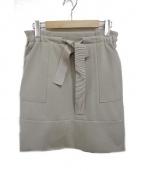 FOXEY NEWYORK(フォクシーニューヨーク)の古着「フロントリボンスカート」|ベージュ
