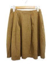DAISY LIN for FOXEY(デイジー リン フォー フォクシー)の古着「デイジースウェードスカート」|ブラウン