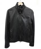 SHELLAC(シェラック)の古着「シープレザーシングルライダースジャケット」 ブラック