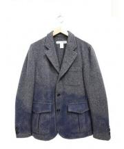 COMME des GARCONS SHIRT(コムデギャルソンシャツ)の古着「グラデーションシングルウールジャケット」|グレー