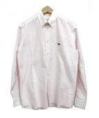 MAISON KITSUNE(メゾンキツネ)の古着「クレリックストライプシャツ」|ピンク