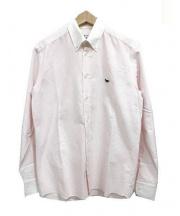 MAISON KITSUNE(メゾンキツネ)の古着「クレリックストライプシャツ」 ピンク