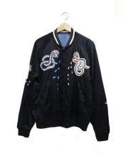 DIESEL(ディーゼル)の古着「リバーシブルボンバージャケット」|ブラック×ブルー