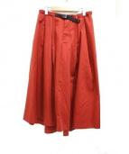 GRAMICCI × DICKIES × FREAKS STORE(グラミチ×ディッキーズ×フリークスストア)の古着「フレアボリュームスカート」|レッド