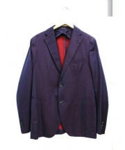 TAGLIATORE(タリアトーレ)の古着「2Bセットアップスーツ」|パープル×ネイビー