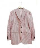 SARTORIA LATORRE(サルトリア ラットーレ)の古着「ストライプ3Bテーラードジャケット」|レッド×ホワイト