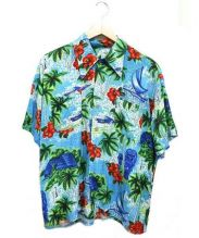 John's by Johnny(ジョンズバイジョニー)の古着「リメイクアロハシャツ」|オレンジ×ブルー