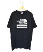SUPREME×THE NORTH FACE(シュプリーム×ザ・ノースフェイス)の古着「メタリックロゴT」|ブラック