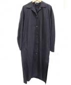 AURALEE(オーラリー)の古着「セルヴィッチウェザークロスロングシャツワンピース」 ブラック