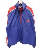 NIKE(ナイキ)の古着「70'sハーフジッププルオーバージャケット」|ネイビー×レッド
