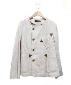 MONTGOMERY(モンゴメリー)の古着「リネンジャケット」|ベージュ