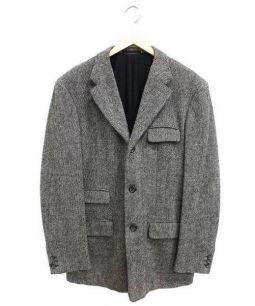 JIL SANDER(ジルサンダー)の古着「ウールツイードチェスターコート」|グレー