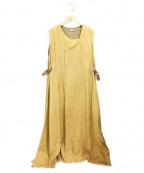 NEHERA(ネヘラ)の古着「ノースリーブロングワンピース」|ベージュ
