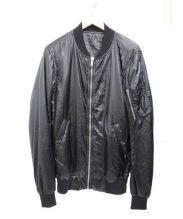 RICK OWENS(リックオウエンス)の古着「ナイロンボンバージャケット」 ブラック