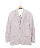 Brooks Brothers(ブルックスブラザーズ)の古着「ストライプテーラードジャケット」 ホワイト×レッド