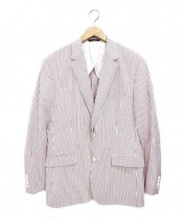 Brooks Brothers(ブルックスブラザーズ)の古着「ストライプテーラードジャケット」|ホワイト×レッド