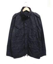 A BATHING APE(ア ベイシング エイプ)の古着「サルカモスタンドカラージャケット」|ブラック