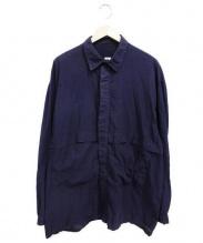 E.TAUTZ(イートーツ)の古着「フラップポケットシャツ」|ネイビー