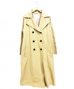 ANGLOBAL SHOP(アングローバルショップ)の古着「ロングトレンチコート」 ベージュ