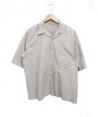 AURALEE(オーラリー)の古着「セルヴィッジウェザークロスハーフスリーブシャツ」|ベージュ