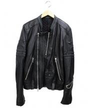 COAL BLACK(コールブラック)の古着「カウレザーダブルライダースジャケット」 ブラック