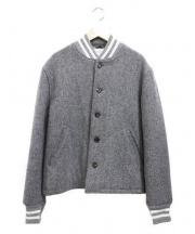 THOM BROWNE(トム ブラウン)の古着「letterman jacket」 グレー