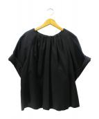 ADORE(アドーア)の古着「ハイツイストギャバリボンブラウス」|ブラック