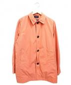 Paul smith JEANS(ポールスミスジーンズ)の古着「ナイロンステンカラーコート」|ピンク