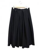 COMME des GARCONS(コムデギャルソン)の古着「ウールタックスカート」|ブラック