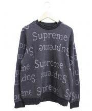 Supreme(シュプリーム)の古着「ジャガードロゴクルーネック」|グレー