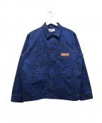Supreme×COMME des GARCONS SHIRT(シュプリーム × コムデギャルソンシャツ)の古着「プリンテッドキャンバスクロームコート」 ネイビー