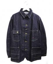 BLUE BLUE(ブルーブルー)の古着「デニムカバーオールジャケット」|インディゴ