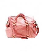 MIU MIU(ミュウミュウ)の古着「カーフ2WAYバッグ」 ピンク