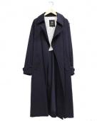 Drawer(ドロワー)の古着「ウールコットンガウンコート」|ネイビー