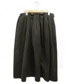 apuntob(アプントビー)の古着「タックロングスカート」|カーキ