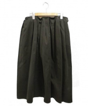 apuntob(アプントビー)の古着「タックロングスカート」 カーキ