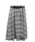 ADORE(アドーア)の古着「タックドチェックフレアースカート」|グレー