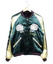 TAILOR東洋(テイラートウヨウ)の古着「リバーシブルスカジャン」|ブラック×グリーン